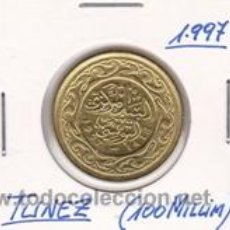 Monedas antiguas de África: TUNEZ 100 MILLIM 1997. Lote 42183474