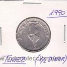 Monedas antiguas de África: TUNEZ 1/2 DINAR 1990. Lote 42183575