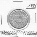 Monedas antiguas de África: MARRUECOS 5 FRANCOS 1951. Lote 153384340