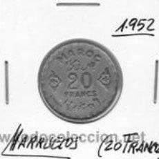 Monedas antiguas de África: MARRUECOS 20 FRANCOS 1952. Lote 153385010