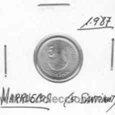 Monedas antiguas de África: MARRUECOS 5 SANTIMAT 1987. Lote 153385505