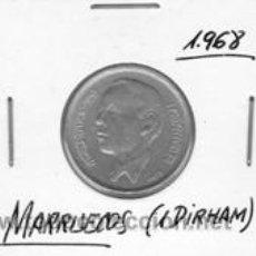 Monedas antiguas de África: MARRUECOS 1 DIRHAM 1968. Lote 42193829