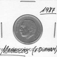 Monedas antiguas de África: MARRUECOS 1 DIRHAM 1987. Lote 42193867
