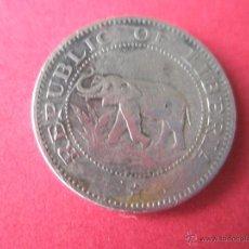 Monedas antiguas de África: =Aª MONEDA-R.LIBERIA-FIVE CENTS-1960-20 MM.D-.. Lote 42317328
