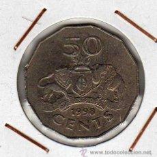 Monedas antiguas de África: SWAZILANDIA : 50 CENTS 1998 MBC. Lote 42748707