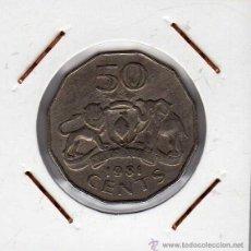 Monedas antiguas de África: SWAZILANDIA : 50 CENTS 1981 MBC+. Lote 43537527