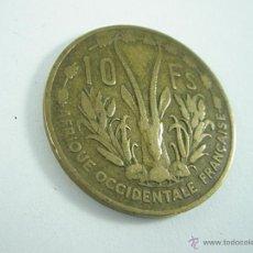 Monedas antiguas de África: MONEDA-FRANCIA-AFRICA OCCIDENTAL 10 FRANCOS-1956-BRONCE-.. Lote 43756220