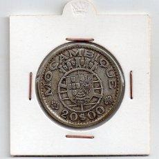 Monedas antiguas de África: MOZAMBIQUE, 20 ESCUDOS 1952, PLATA. Lote 43964811