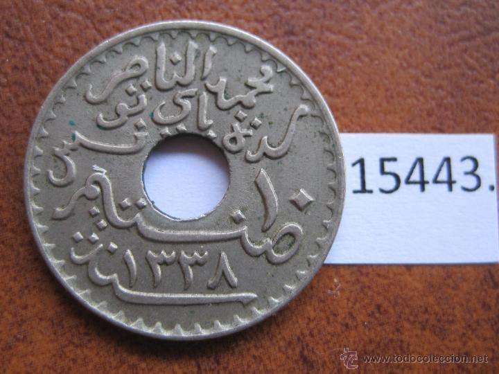 Monedas antiguas de África: Tunez Protectorado Frances ,10 centimos 1339/1920 - Foto 2 - 44764374