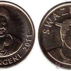 Monedas antiguas de África: SWAZILANDIA / SWAZILAND 1 LILANGENI 2011 KM 60 ( NUEVO MODELO ). Lote 144435072