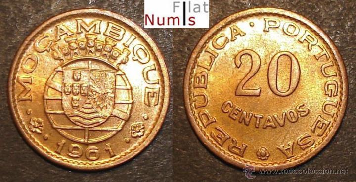 MOZAMBIQUE - 20 CENTS - 1961 - SIN CIRCULAR - BRONCE (Numismática - Extranjeras - África)