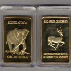 Monedas antiguas de África: AFRICA, LINGOTE CON ORO DE 24 KTES. ELEFANTE LIQUIDACION. Lote 175926199