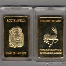 Monedas antiguas de África: AFRICA, LINGOTE CON ORO 24 KTES. LEON LIQUIDACION. Lote 175926259