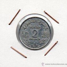 Monedas antiguas de África: MARRUECOS : 2 FRANCS 1370 (1951) EBC . Lote 45971299