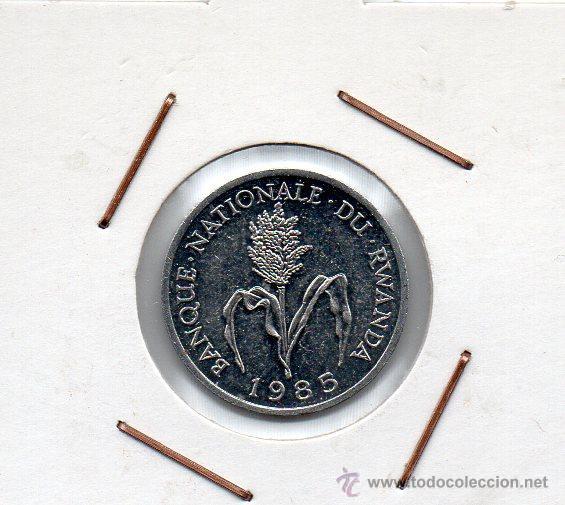 RWANDA : 1 FRANC 1985 SIN CIRCULAR (Numismática - Extranjeras - África)