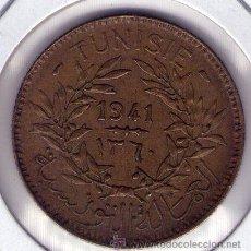 Monedas antiguas de África: TUNEZ 2 FRANCS 1941 (AH 1360) KM# 248 EBC/XF. Lote 47270658