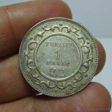 Monedas antiguas de África: 1 FRANC - 1 FRANCO. PLATA. TUNISIE - 1891. Lote 48040457
