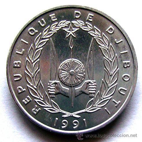 MONEDAS DEL MUNDO . DJIBOUTI . 5 FRANCS 1991 (Numismática - Extranjeras - África)