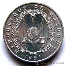 Monedas antiguas de África: MONEDAS DEL MUNDO . DJIBOUTI . 5 FRANCS 1991. Lote 48528046