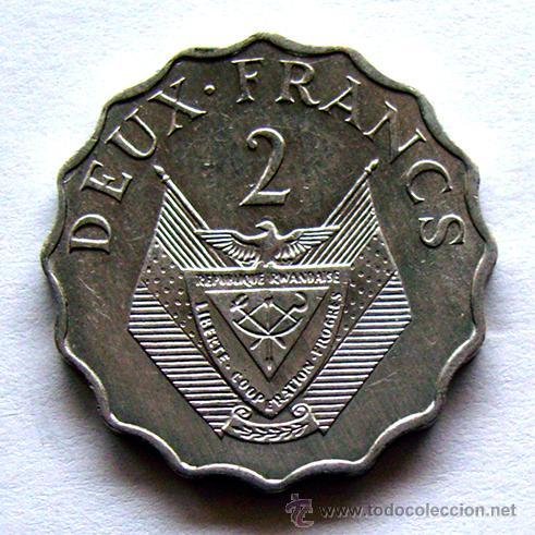 MONEDAS DEL MUNDO . RUANDA . 2 FRANCS 1970 (Numismática - Extranjeras - África)