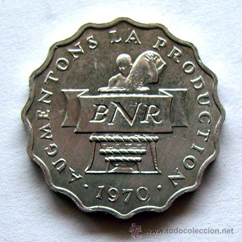 Monedas antiguas de África: MONEDAS DEL MUNDO . RUANDA . 2 FRANCS 1970 - Foto 2 - 48528120