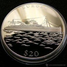 Monedas antiguas de África: LIBERIA $ 20 2000 BARCO EUROPA. Lote 48683496