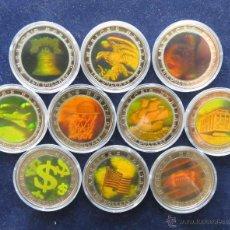 Monedas antiguas de África: 10 X LIBERIA $ 10 2002 AMERICA 3D. Lote 48683571