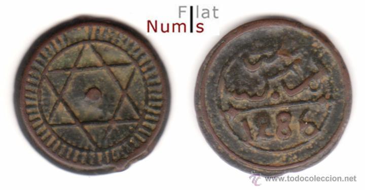 MARRUECOS - 4 FALUS - 1286AH - E.B.C - BRONCE (Numismática - Extranjeras - África)