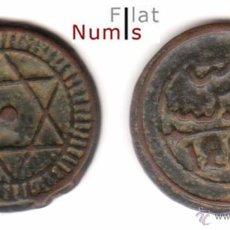 Monedas antiguas de África: MARRUECOS - 4 FALUS - 1286AH - E.B.C - BRONCE. Lote 48956714
