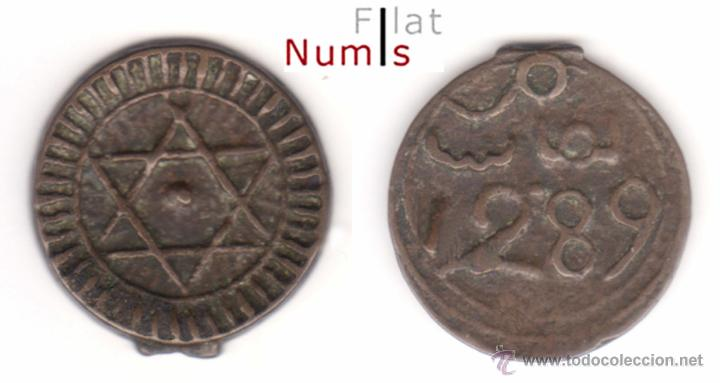 MARRUECOS - 4 FALUS - 1289AH - E.B.C - BRONCE (Numismática - Extranjeras - África)
