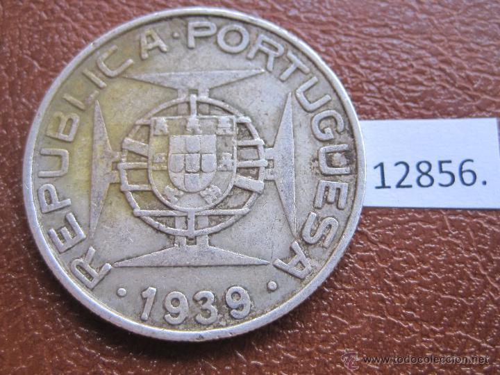 Monedas antiguas de África: Santo Tome e Principe 10 escudos plata 1939 - Foto 2 - 49586319