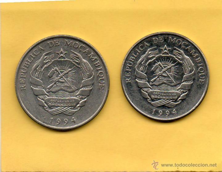 MM. 2 MONEDAS MOZAMBIQUE. MOÇAMBIQUE. MOÇAMBIC. AÑO 1994. 500 Y 1000 METICAIS. VER FOTOS. BONITAS (Numismática - Extranjeras - África)