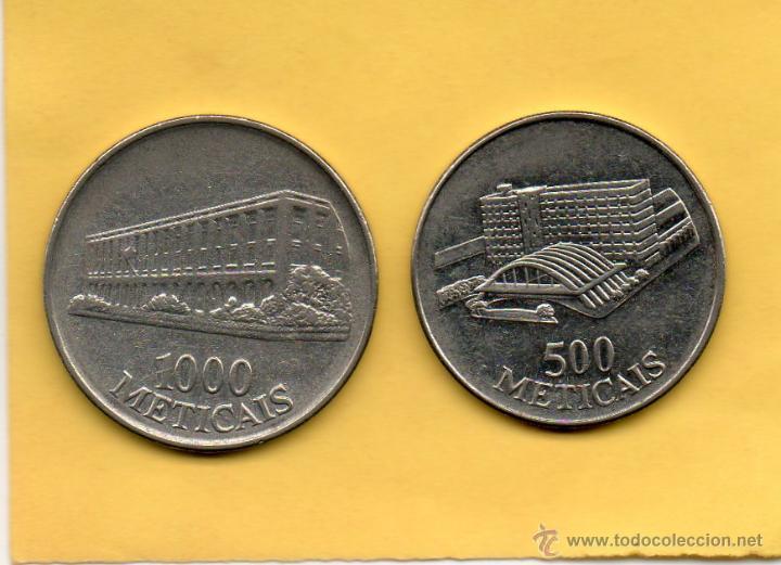 Monedas antiguas de África: MM. 2 MONEDAS MOZAMBIQUE. MOÇAMBIQUE. MOÇAMBIC. AÑO 1994. 500 Y 1000 METICAIS. VER FOTOS. BONITAS - Foto 2 - 50590023