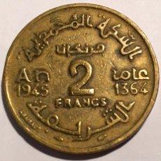 Monedas antiguas de África: MAROC EMPIRE CHERIFIEN 1945-1364 2 FRANCOS. Lote 53537826