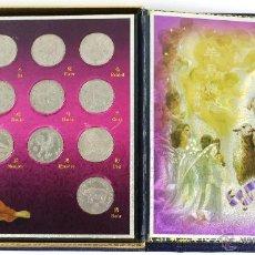 Monedas antiguas de África: COLECCION 12 MONEDAS 5 DOLARS LIBERIA 2003 CHINESE LUNAR ZODIAC. EN ESTUCHE. Lote 53631367