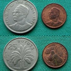 Monedas antiguas de África: GAMBIA 25 Y 1 BUTUTS. Lote 56083280