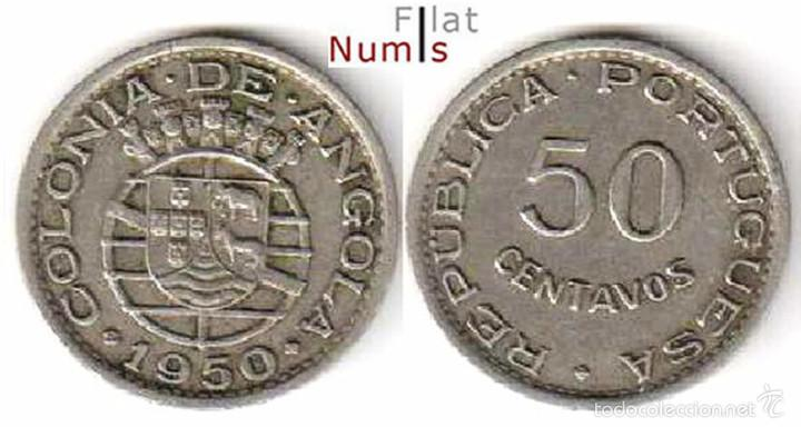 ANGOLA - 50 CENTS - 1950 - NIQUEL/BRONCE (Numismática - Extranjeras - África)
