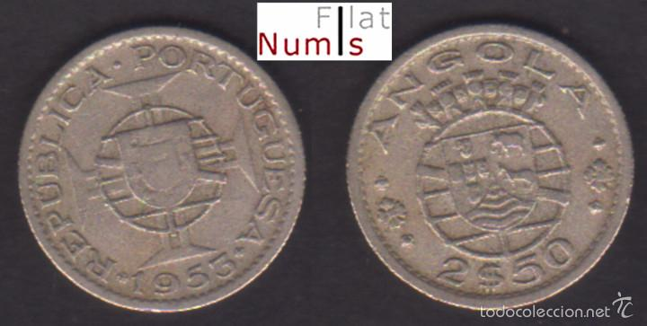 ANGOLA - 2,50 ESCUDOS - 1953 - CUPRONIQUEL (Numismática - Extranjeras - África)