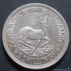 Monedas antiguas de África: SUDÁFRICA 5 CHELINES 1948 JORGE VI REF 1 -PLATA-. Lote 57350659