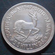 Monedas antiguas de África: SUDÁFRICA 5 CHELINES 1947 JORGE VI -PLATA-. Lote 57350697