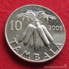 Monedas antiguas de África: MALAWI 10 TAMBALA 2003 UNC. Lote 236221475