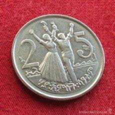 Old Coins of Africa - Ethiopia Etiopía 25 cent 2004 . unc - 132730873