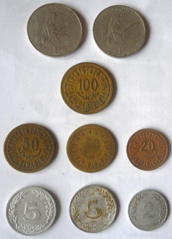 LOTE DE NUEVE MONEDAS DE TUNEZ (Numismática - Extranjeras - África)