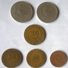Monedas antiguas de África: LOTE DE NUEVE MONEDAS DE TUNEZ. Lote 57741942