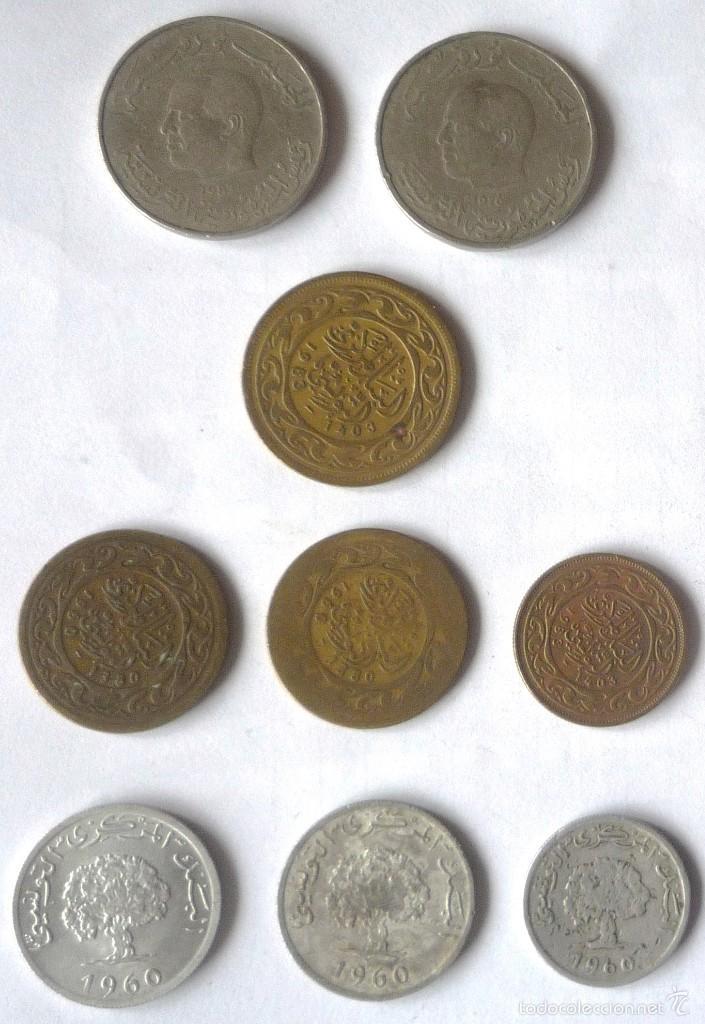 Monedas antiguas de África: LOTE DE NUEVE MONEDAS DE TUNEZ - Foto 2 - 57741942