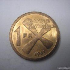 Monedas antiguas de África: KATANGA, CONGO INDEPENDIENTE. 1 FRANCO DE METAL DE 1961. Lote 58070257