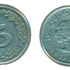 Monedas antiguas de África: TÚNEZ 5 MILLIMES AH 1418 / 1997 ( BC ). Lote 58589751