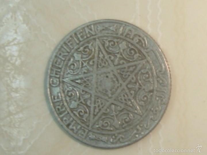 Monedas antiguas de África: Marruecos. Protectorado francés. 25 céntimos, 50 céntimos y 1 franco de 1921 - Foto 2 - 139321361