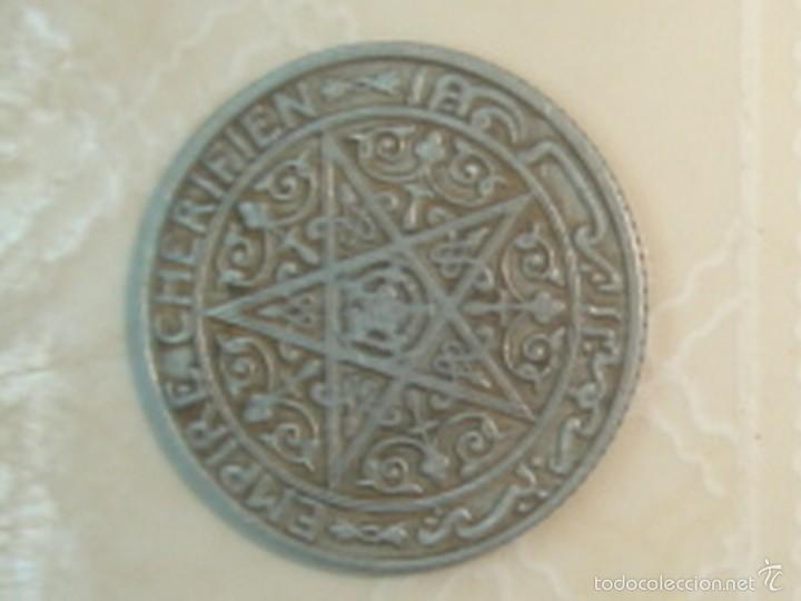 Monedas antiguas de África: Marruecos. Protectorado francés. 25 céntimos, 50 céntimos y 1 franco de 1921 - Foto 3 - 139321361