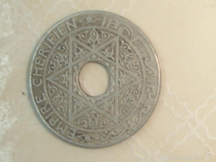 Monedas antiguas de África: Marruecos. Protectorado francés. 25 céntimos, 50 céntimos y 1 franco de 1921 - Foto 4 - 139321361